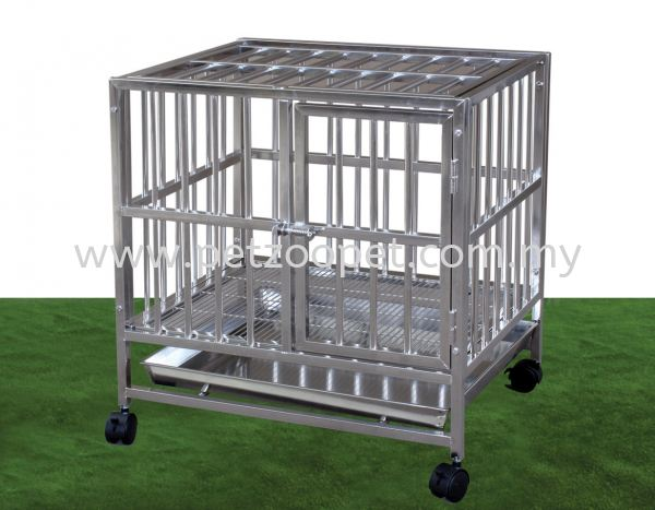 S106B Stainless Steel Dog Cage Pet Cage   Supplier, Wholesaler, Exporter, Supply | Starcage Pet Products Sdn Bhd