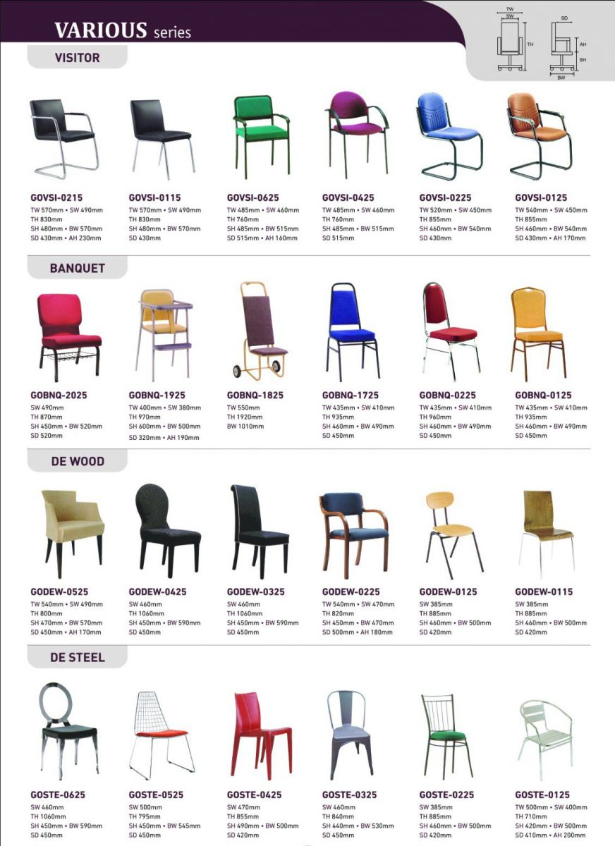 VARIOUS Chair VARIOUS Chair Office Chairs Selangor, Malaysia, Kuala Lumpur (KL), Klang Supplier, Suppliers, Supply, Supplies | Gozzo Direction (M) Sdn Bhd