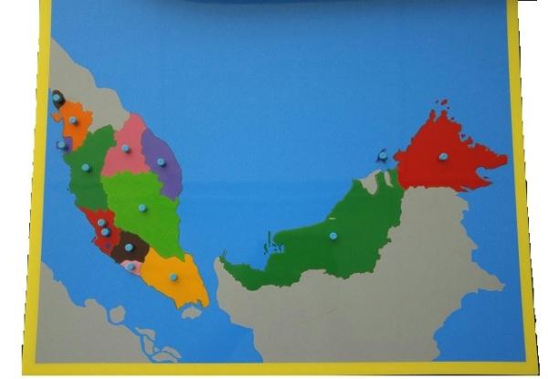 Map Of Malaysia (CM041) Cultural Studies Kuala Lumpur (KL), Malaysia, Selangor, Cheras Montessori, Materials, Supplier, Supply | D'Argosy Educational Equipment (M) Sdn Bhd