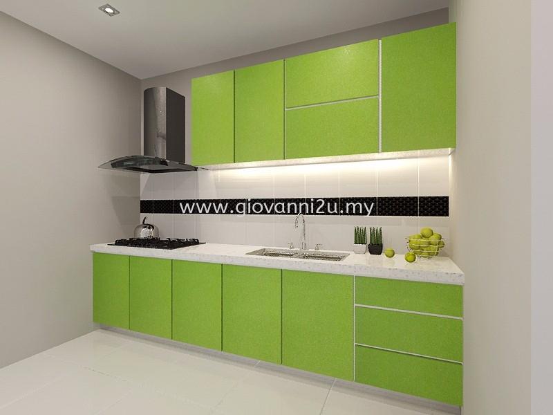 I Type Dry Kitchen 10ft Dry Kitchen Design Kitchen Design Penang, Pulau Pinang, Malaysia. Service, Design, Renovation | P2D Studio