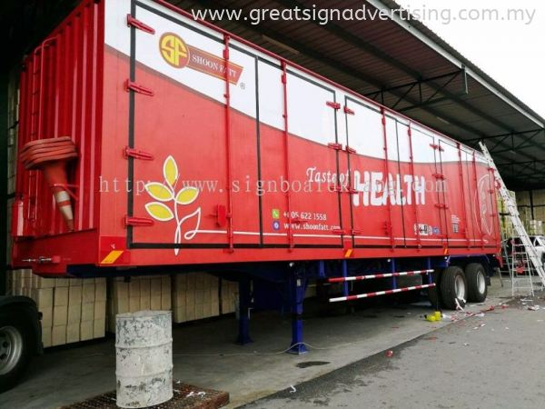 Shoon Fatt 20 Ton Container Lorry Box - Inkjet Sticker TRUCK LORRY STICKER Selangor, Malaysia, Kuala Lumpur (KL), Klang Manufacturer, Maker, Installation, Supplier | Great Sign Advertising (M) Sdn Bhd