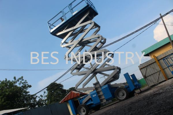 Scissor Lift Rental 39 ft (12.06 m)  Scissor Lift Rental Malaysia, Selangor, Kuala Lumpur (KL), Klang Rental, For Rent, Services, Supplier | Bes Industry & Trading Sdn Bhd