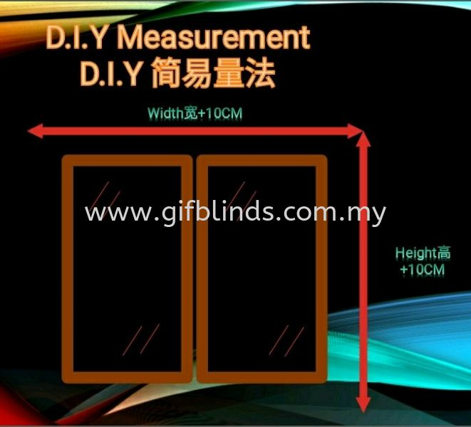 D.I.Y 简易量法 D.I.Y 简易量法 D.I.Y 简易量法   Supplier, Suppliers, Supplies, Supply | GIF Blinds (M) Sdn Bhd
