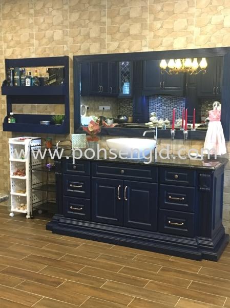 Nyatoh Spray Paint Kitchen Cabinet #CASTORA Kitchen Seremban, Negeri Sembilan (NS), Malaysia Renovation, Service, Interior Design, Supplier, Supply | Poh Seng Furniture & Interior Design