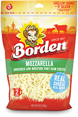 Borden Low-Moisture Part-Skim Mozzarella  Borden Cheese  Cheese Kuala Lumpur (KL), Selangor, Malaysia Supplier, Supply, Supplies, Distributor | Five Star Gourmet Sdn Bhd