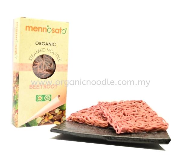 MNS Beetroot Steam Noodle MENOSATO Steam Noodles Organic Noodles Malaysia, Kedah, Sungai Petani Supplier, Manufacturer, Supply, Supplies   Everprosper Food Industries Sdn Bhd