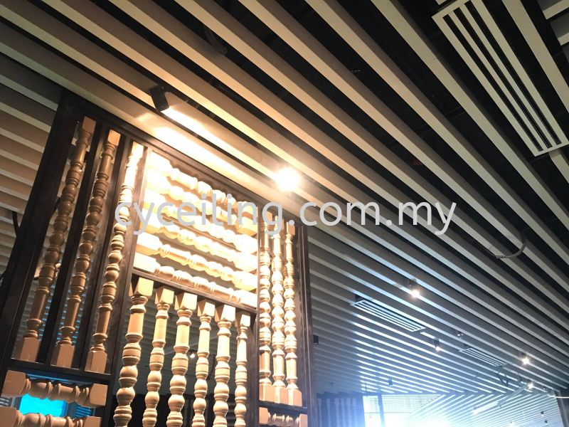 Aluminium Baffle Ceiling  Selangor, Malaysia, Kuala Lumpur (KL), Puchong Contractor, Supplier, Supply | CY Ceiling & Renovation