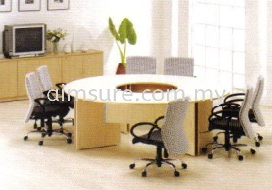Round join meeting table with wooden leg Conference Table Office Table Selangor, Malaysia, Kuala Lumpur (KL), Seri Kembangan Supplier, Supply, Supplies, Service | Aimsure Sdn Bhd