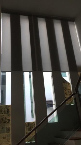 Roller Blind On Staircase (high Wall)   Supplier, Suppliers, Supplies, Supply | Kim Curtain Design Sdn Bhd
