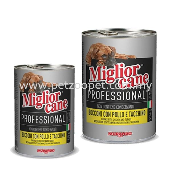 Migliorcane Professional Chunks with Chicken & Turkey  Morando Dog Food Pet Food   Supplier, Wholesaler, Exporter, Supply   Starcage Pet Products Sdn Bhd