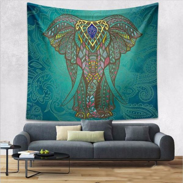 Tapestry Wall Hanging - Elephant 101 Elephant Tapestry Wall Hanging Australia, New Zealand Supplier, Wholesaler, Supply, Supplies | Home Wallpaper & Decor