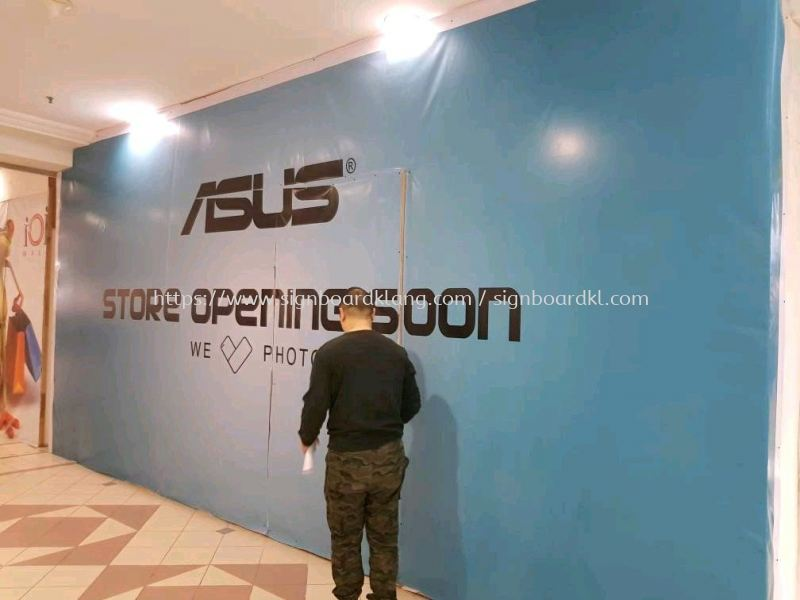 Asus Store shopping mall booth Signboard at Puchong IOI mall Shopping Mall Booth Signage Selangor, Malaysia Supply, Manufacturers, Printing | Great Sign Advertising (M) Sdn Bhd