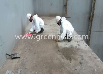 Cleaning General Cargo Spillage Container at Tank Top Our Services Marine Cleaning Service Johor Bahru (JB), Masai, Malaysia Services | GreenMed Enterprise (M) Sdn Bhd