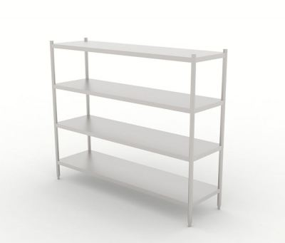 Four Tier Solid Rack