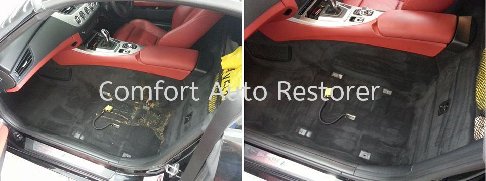BMW Z4 Carpet Cleaning Upholstery Steam Cleaning Selangor, Malaysia, Kuala Lumpur (KL), Petaling Jaya (PJ) Car, Services, Specialist | Comfort Auto Restorer Sdn Bhd