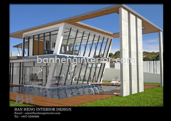 Exterior Design Fitment Landscape design Interior Design Johor Bahru (JB), Johor, Skudai Service, Renovation, Construction   Ban Heng Interior Design Sdn Bhd