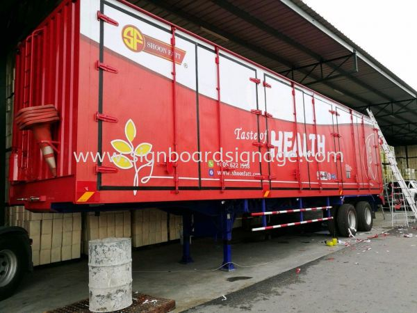 Shoon Fatt 20 Ton Container Lorry Box Lorry Containers TRUCK LORRY STICKER Klang, Selangor, Malaysia, Kuala Lumpur (KL) Manufacturer, Maker, Supplier, Supply | Dynasty Print Solution