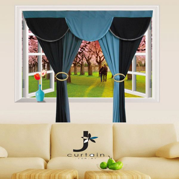 Interlock Plain Two Layers with Scalop 2 Interlock Plain Interlock Curtain Curtain Johor, Malaysia, Ayer Hitam Supplier, Suppliers, Supply, Supplies | Yu-Yuang Textile Industries (M) Sdn Bhd