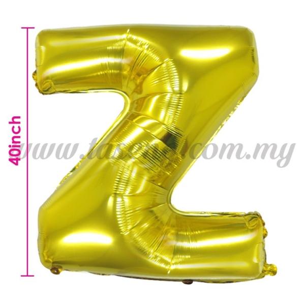 40inch Foil Balloon Alphabet Z - Gold (FB-40-ZG) Alphabet Foil Balloon Kuala Lumpur (KL), Malaysia, Selangor, Batu Caves Supplier, Suppliers, Supply, Supplies | Taseng Marketing Sdn Bhd