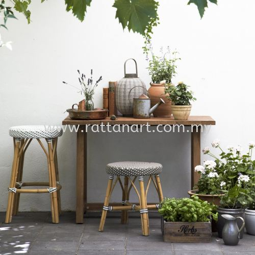 RATTAN DINING STOOL COIN