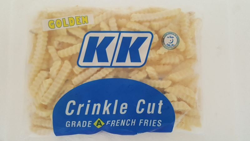 KK Crinkle Cut French Fries 1 kg KK Products Fries & Vegetable Selangor, Malaysia, Kuala Lumpur (KL), Balakong Frozen, Supplier, Importer, Supply | Kong Kee Trading Sdn Bhd
