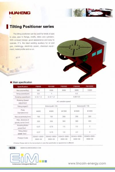 Huaheng positioner-01 Positioner CNC and Automated Selangor, Malaysia, Kuala Lumpur (KL), Puchong Supplier, Suppliers, Supply, Supplies | Lincoln Energy Sdn Bhd