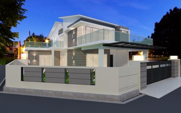 Outdoor 3D Design Johor Bahru (JB), Malaysia Design | LV Construction Design Sdn Bhd
