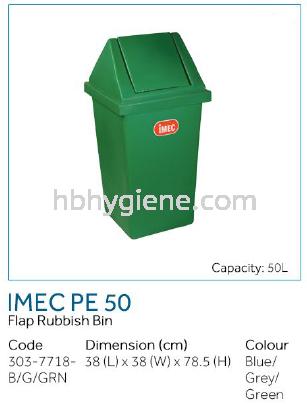 IMEC PE 50 - Flap Rubbish Bin Flip Top Bin  Waste Bins Pontian, Johor Bahru(JB), Malaysia Suppliers, Supplier, Supply | HB Hygiene Sdn Bhd