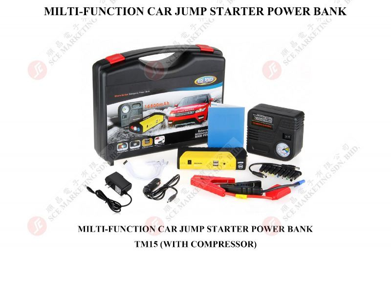 POWER BANK WITH JUMP STARTER TM15 POWER BANK HANDPHONE ACCESSORY Johor Bahru, JB, Johor. Supplier, Suppliers, Supplies, Supply | SCE Marketing Sdn Bhd