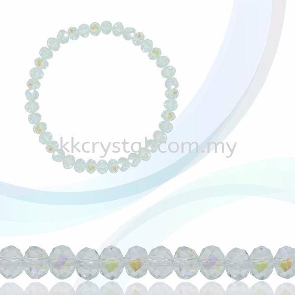 Crystal China, Donut 4mm, B68 Crystal AB Donut 04mm Beads Kuala Lumpur (KL), Malaysia, Selangor, Klang, Kepong Wholesaler, Supplier, Supply, Supplies | K&K Crystal Sdn Bhd