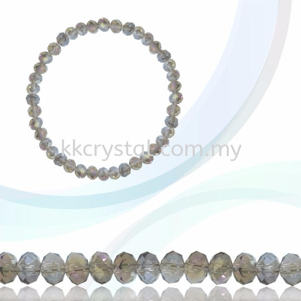 Crystal China, Donut 4mm, B67 Black Diamond AB Donut 04mm Beads Kuala Lumpur (KL), Malaysia, Selangor, Klang, Kepong Wholesaler, Supplier, Supply, Supplies   K&K Crystal Sdn Bhd