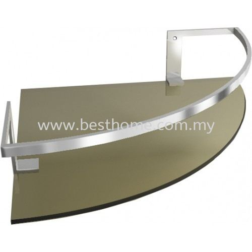 CORNER SINGLE GLASS SHELF GSD419 / TR-BA-GS-01050-PL Glass Shelf Shelf Bathroom Accessories Johor Bahru (JB), Malaysia, Johor Jaya Supplier, Suppliers, Supply, Supplies | Best Home Kitchen & Bathroom Solution