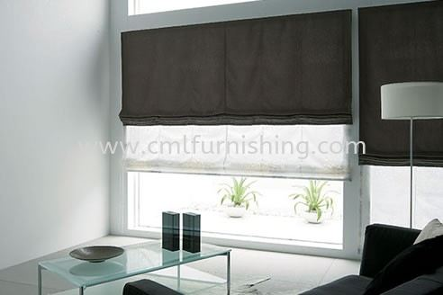 living-area-toso-japanese-double-twins-roman-shade-blinds-one-touch-system 7 toso roman shade TOSO Premium Products Kuala Lumpur, KL, Malaysia Supplier, Manufacturer | CML Furnishing Sdn Bhd