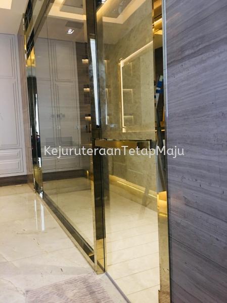 Bathroom Door Frame with Handle Condominium House Design at KL, Malaysia Decoration ( Stainless Steel, Mild Steel, Aluminium ) Selangor, Malaysia, Kuala Lumpur (KL), Kajang Services, Works | Kejuruteraan Tetap Maju Sdn Bhd