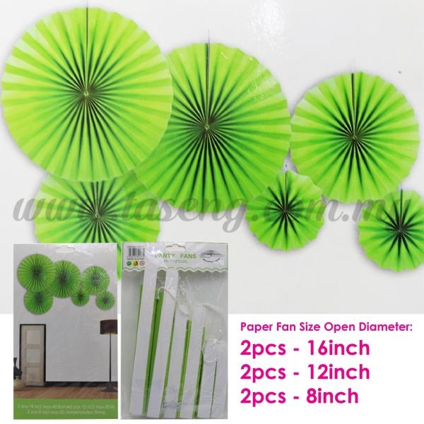 Paper Fan * Plain Lime Green - 6pcs (PD-PF-80177) Paper Fan Paper Decoration Kuala Lumpur (KL), Malaysia, Selangor, Batu Caves Supplier, Suppliers, Supply, Supplies | Taseng Marketing Sdn Bhd