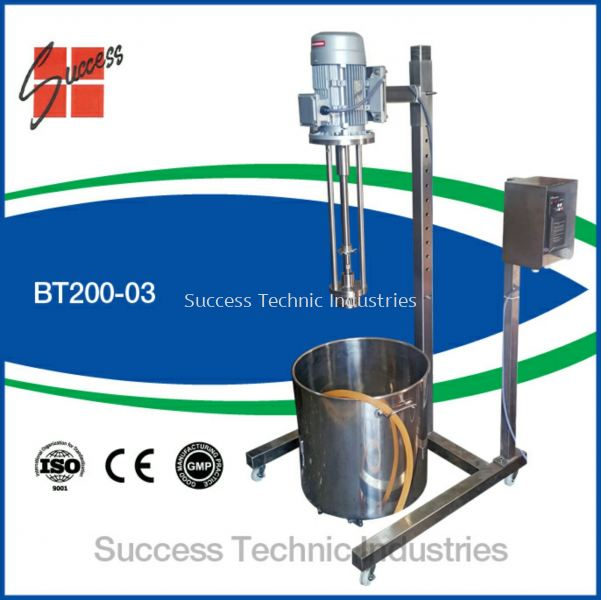 BT200-03 3hp top entry homogenizer BT200-BT200B Dyna-Stream 20 - 1000 Liter Top/Bottom Entry Industry Homogenizer Seri Kembangan, Selangor, Malaysia Fabrication Supplier Supply Manufacturer | Success Technic Industries