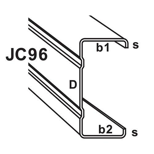 JC96 JC Type C-Section Truss Component : C-Section & Batten Johor Bahru (JB), Malaysia, Tebrau Manufacturer, Maker, Supplier, Supply | Fort Steel Sdn Bhd