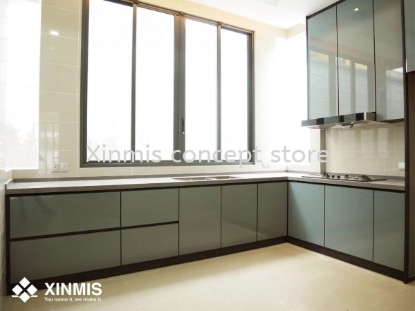 Aluminium kitchen cabinet - Seremban 2 L-Shape kitchen design Aluminium kitchen cabinet Selangor, Malaysia, Melaka, Kuala Lumpur (KL), Petaling Jaya (PJ), Malim Jaya Supplier, Supply, Design, Services | XINMIS CONCEPT STORE