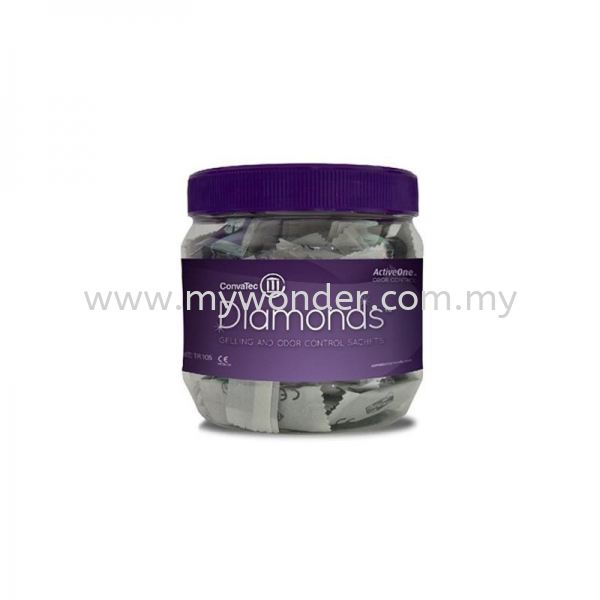 DIAMONDS Gelling And Odour Control Sachets - 420791 Ostomy Accessories CONVATEC Stoma & Wound Penang, Malaysia, Perai Supplier, Suppliers, Supply, Supplies | Mystique Wonder Sdn Bhd