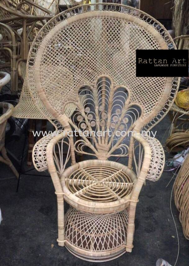 Custom Made Rattan Peacock Chair