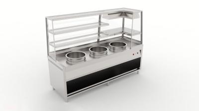 Three Pot Display Bain Marie with Warmer Counter