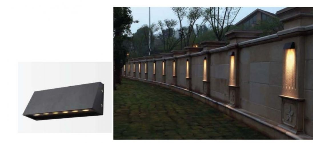 DESS OUTDOOR LED WALL LIGHT 3000K GLDC9702-8W