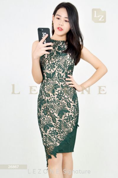 26867 HIGH-LOW LACE DRESS¡¾1st 35% 2nd 45% 3rd 55%¡¿ Dresses On Sale S A L E  Selangor, Kuala Lumpur (KL), Malaysia, Serdang, Puchong Supplier, Suppliers, Supply, Supplies | LE ZONE Signature