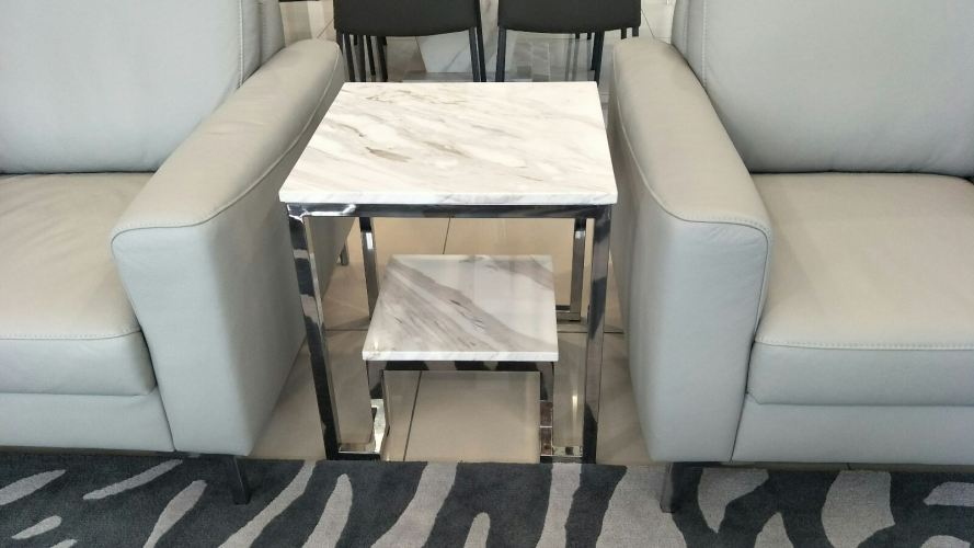 White Marble Coffee Table - Volakas Marble