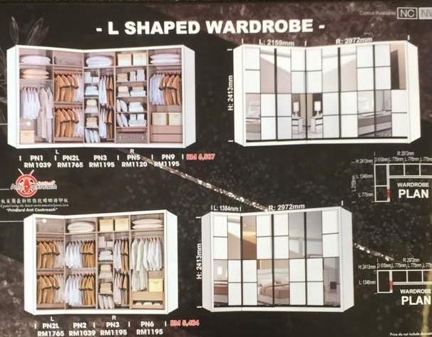 L Shape Wardrobe JB, Johor Bahru, Malaysia Supplier, Suppliers, Supply, Supplies | Super Best Furniture Centre Sdn Bhd