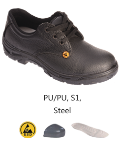 SH-13P-BK S1 ESD Safe Safety Shoes Malaysia Johor Bahru JB Singapore Supplier, Supply | Dou Yee Enterprises (S) Pte Ltd