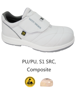 HS-354C WHITE S1 ESD Safe Safety Shoes Malaysia Johor Bahru JB Singapore Supplier, Supply | Dou Yee Enterprises (S) Pte Ltd