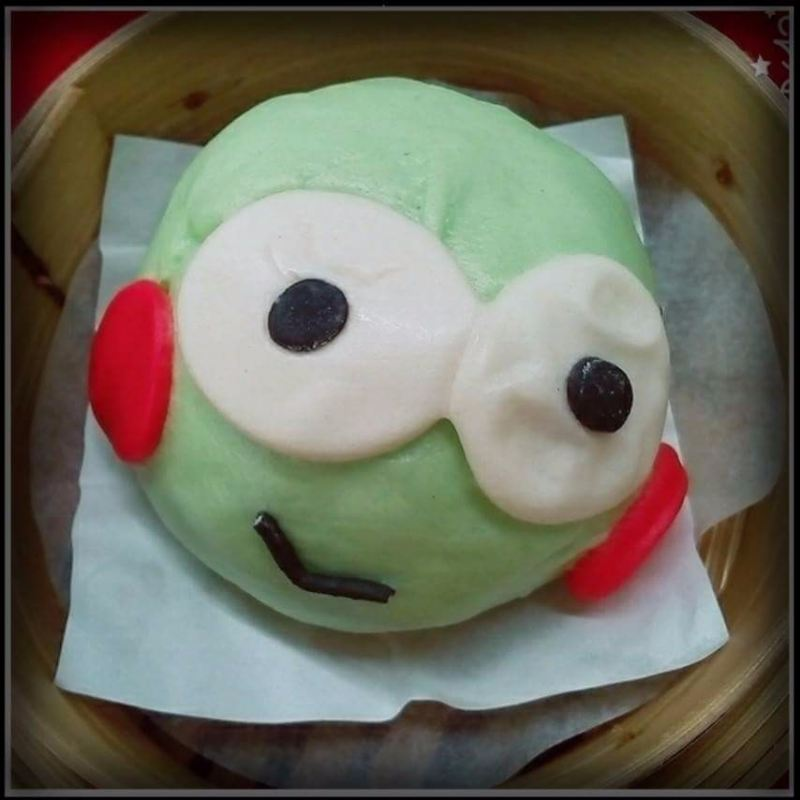 Cartoon Pau ~ Pandan Red Bean ~ 2pcs