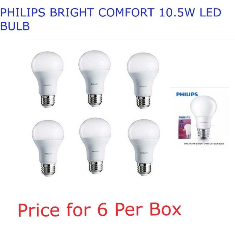 PHILIPS BRIGHT COMFORT 10.5W LED BULB Warm White (3000k)
