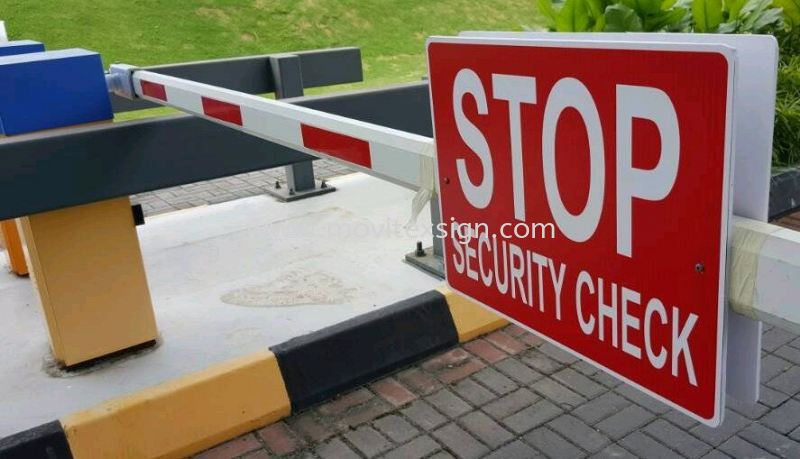 stop sign and no enter signboard for your autogate system  Safety Signage safety sign sample Johor Bahru (JB), Johor, Malaysia. Design, Supplier, Manufacturers, Suppliers | M-Movitexsign Advertising Art & Print Sdn Bhd